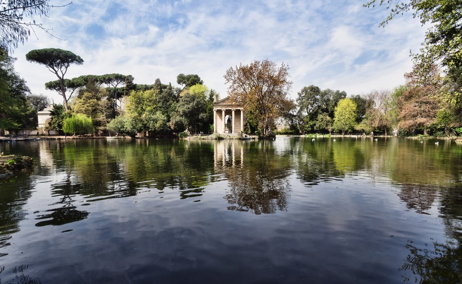 Visit the Borghese Gardens in Rome with kids
